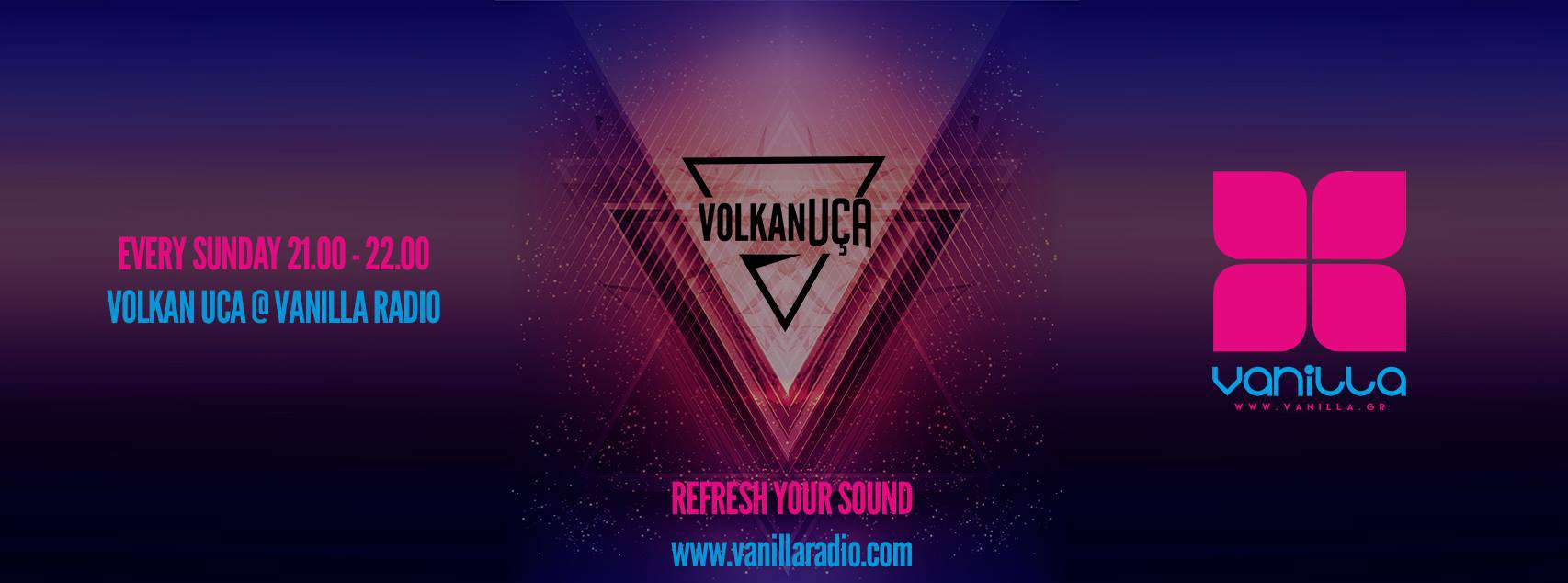 VolKan Uca, the successful Dj, and producer, will be on air Every Sunday for 21:00 - 22:00 ( GMT+2 ) for one hour with a special mix-set for all Vanilla Radio's fans around the world.