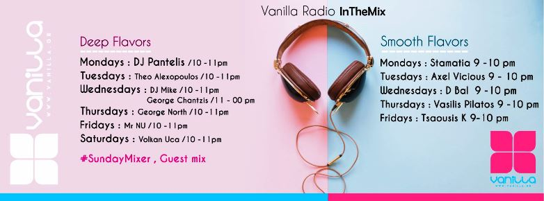 new season on vanilla radio with program - web